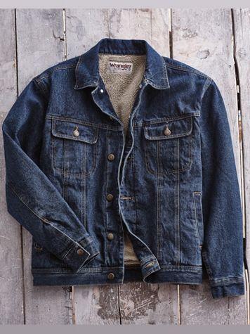 Wrangler® Sherpa-Lined Jean Jacket - Image 0 of 1