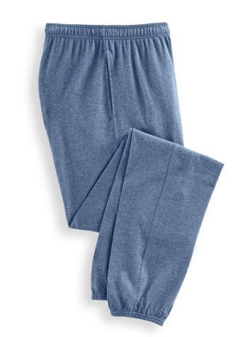 Scandia Woods Elastic-Hem Jersey Knit Pants - Image 1 of 5