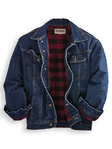 Wrangler® Flannel-Lined Denim Jacket - Image 1 of 1