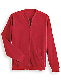 Irvine Park® Velour Jacket by Blair