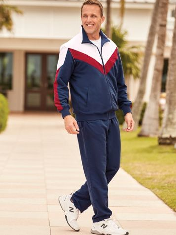 John Blair® Tricolor Microfiber Jog Suit - Image 1 of 3