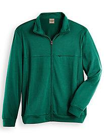 Scandia Woods Textured Fleece Jacket by Blair