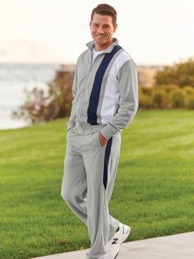 John Blair® Contrast-Panel Jog Suit