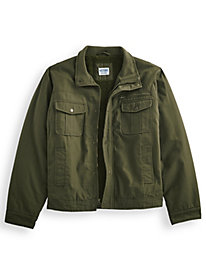 Sherpa-Lined Washed Twill Jacket