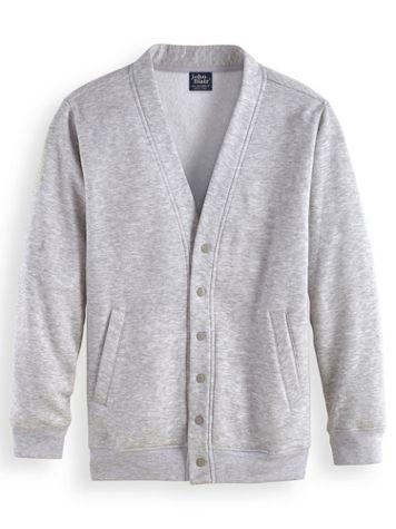 John Blair® Four-Season Snap-Front Fleece Cardigan - Image 1 of 3