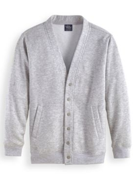 John Blair® Four-Season Snap-Front Fleece Cardigan