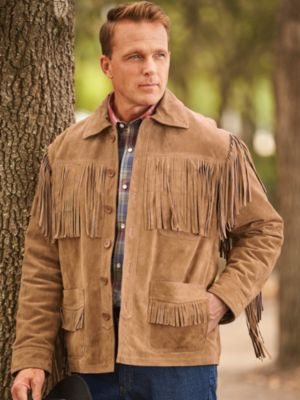 70s Jackets & Hippie Vests, Ponchos Suede Fringe Jacket  AT vintagedancer.com