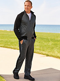 John Blair Heathered Jog Suit by Blair