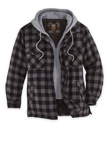 Hooded Flannel Jacket - Image 1 of 1
