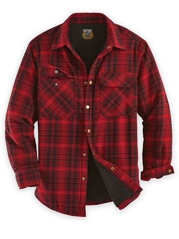 Snap-Front Flannel Shirt Jacket - Image 1 of 3