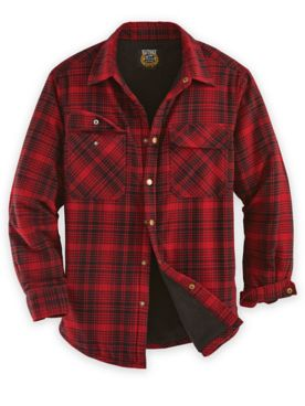 Snap-Front Flannel Shirt Jacket