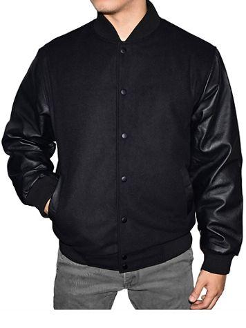 Victory Varsity Jacket with Genuine Leather Sleeves - Image 3 of 3