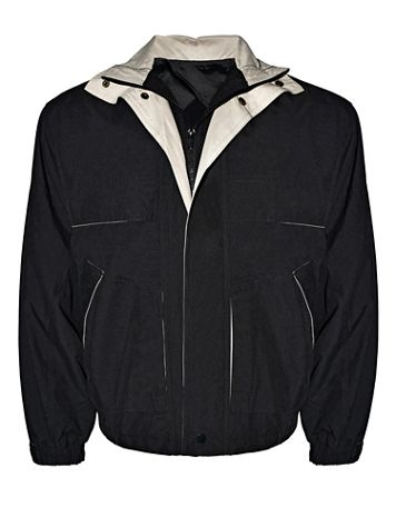 Victory Two-Tone Microfiber Jacket - Image 1 of 3