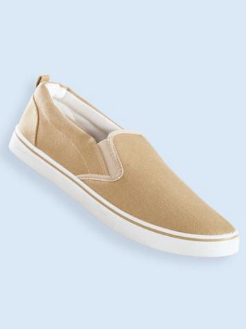 John Blair Twin Gore Canvas Slip-Ons - Image 1 of 5