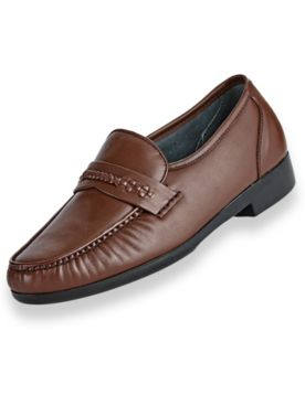 Irvine Park® Leather Slip-On Dress Shoes