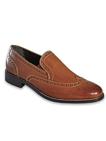 Nunn Bush® Wing Tip Leather Slip-On Shoes - Image 2 of 2