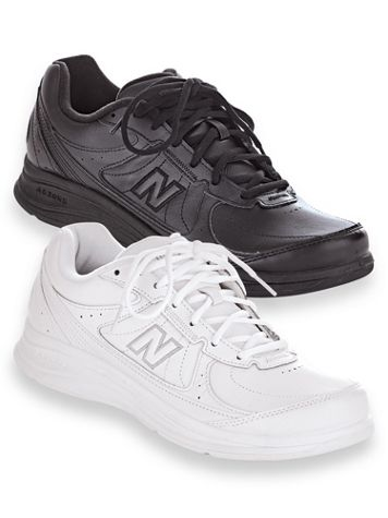 New Balance® 577 Leather Walking Shoes - Tie