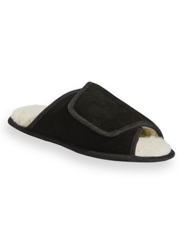 Scandia Woods Suede Wrap Slippers - Image 0 of 1