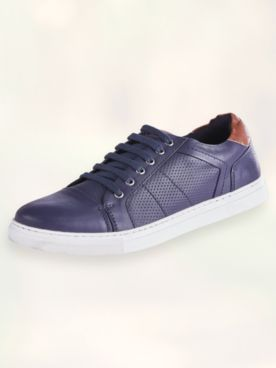 Scandia Woods Textured Casual Leather Shoes