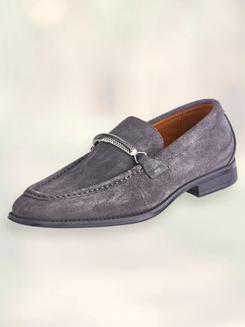 Stacy Adams® Pasqual Genuine Suede Leather Slip-On Shoes - Image 0 of 1