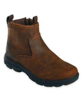 Skechers® Relaxed-Fit Leather Side-Zip Boots