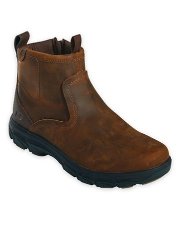 Skechers® Relaxed-Fit Leather Side-Zip Boots - Image 2 of 2
