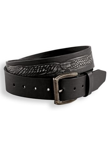 Scandia Woods Embossed Leather-Look Belt - Image 1 of 3
