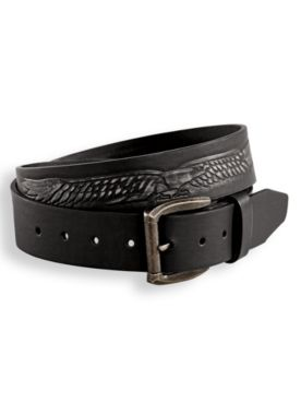 Scandia Woods Embossed Leather-Look Belt
