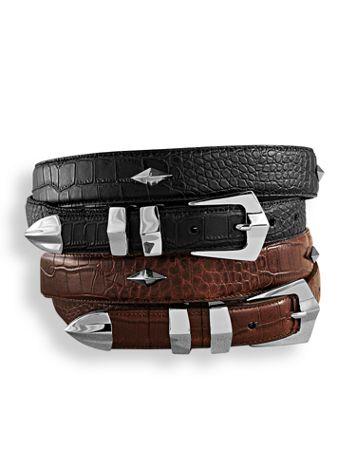John Blair® Leather-Look Concho Belt
