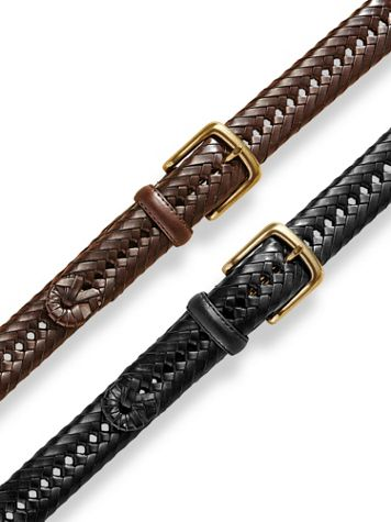 Scandia Woods Braided Leather Belt