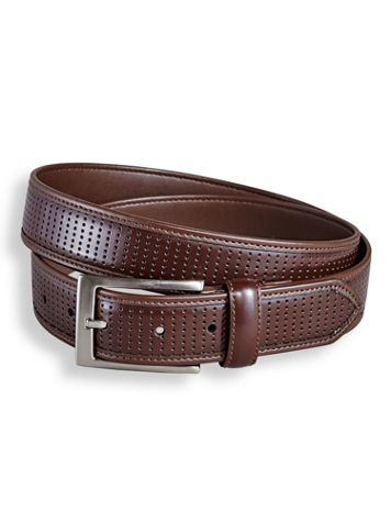 Irvine Park® Perforated Leather-Look Belt - Image 1 of 1