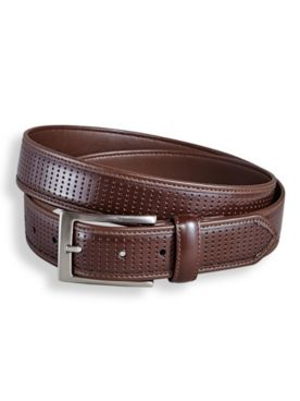 Irvine Park® Perforated Leather-Look Belt