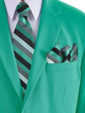 John Blair® Stripe Tie and Pocket Square Set