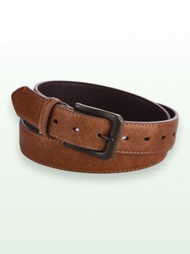 Scandia Woods Leather-Look Edge-Stitched Belt