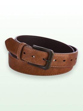 Scandia Woods Leather-Look Edge-Stitched Belt