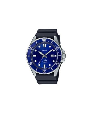 Casio Diver Inspired Black Resin Watch - Image 1 of 1