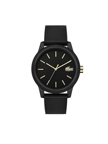 Lacoste 12.12 Silicone Strap Gold Accented Watch - Image 1 of 1