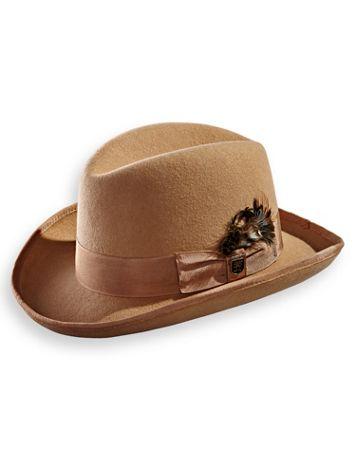 Stacy Adams® Wool Homburg Hat - Image 1 of 4
