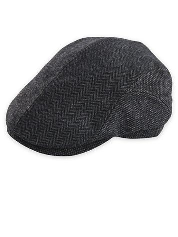 Dorfman Pacific Herringbone Wool Blend Ivy Cap - Image 1 of 3