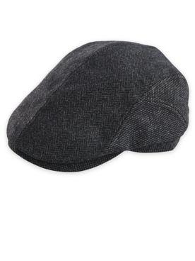 Dorfman Pacific Herringbone Wool Blend Ivy Cap