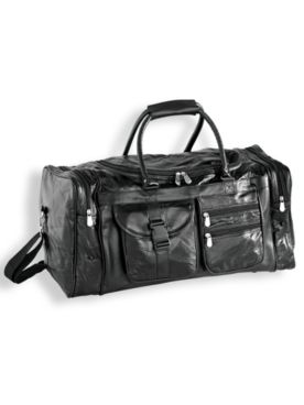 Genuine Patchwork Leather Duffel Bag