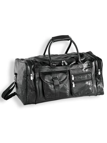 Genuine Patchwork Leather Duffel Bag - Image 2 of 2