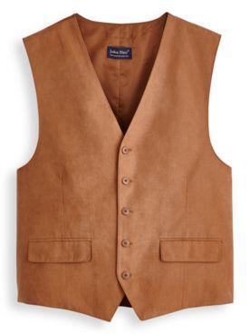 John Blair® Microsuede Button-Front Vest
