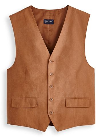 John Blair® Microsuede Button-Front Vest - Image 0 of 1