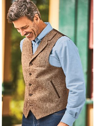 Men's Vintage Vests, Sweater Vests Donegal Vest $41.99 AT vintagedancer.com