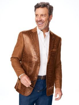 Stacy Adams® Textured Leather-Look Blazer