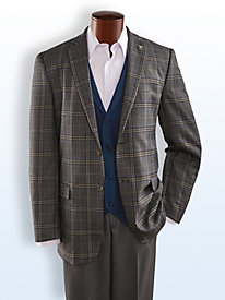 Stacy Adams® Plaid Suit by Blair