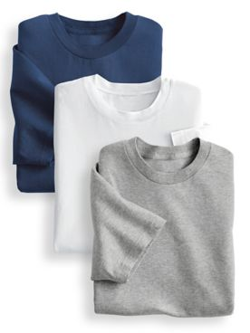 John Blair® Cotton Crewneck Undershirt 3-Pack