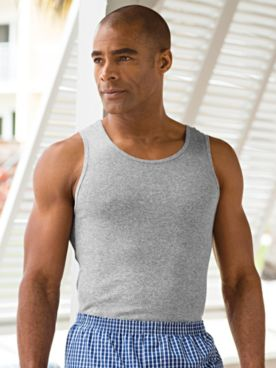 John Blair® Cotton Athletic Tank-Style Undershirt