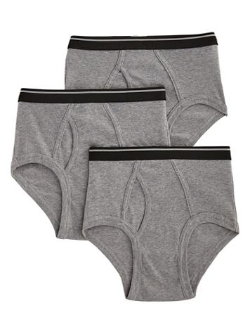 John Blair® Classic Cotton Briefs 3-Pack - Image 1 of 4